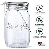 SONNENGLAS® Solarlampe / Solar-Laterne im Einmachglas