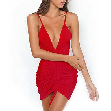 TT&WANLIFU Mujer Fiesta Discoteca Casual Sensual Corte Bodycon Mini Vestido,...