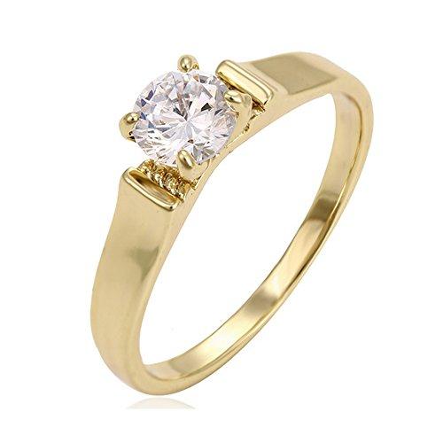 Anello dona oro giallo 18 carati diamanti taglia 16 spedizione gratuita - alleanza 18kt
