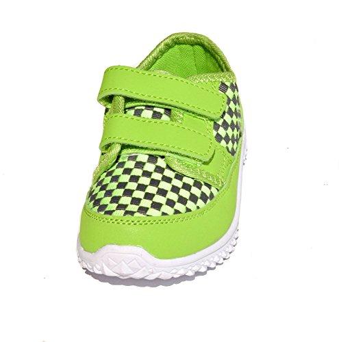 TMY TM349 stylische Kinder Sneaker in Grau-Grün GR.: 25-36 Grau/ Grün