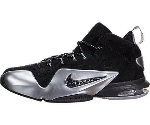 Nike Herren Zoom Penny VI Basketballschuhe, Silber (Schwarz/Metallic Silver), 41 EU