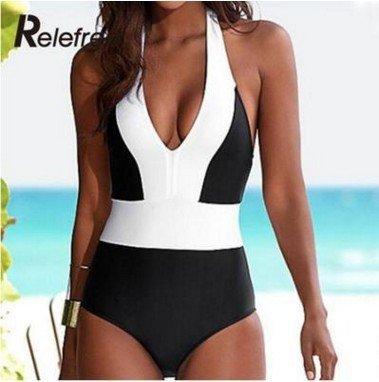 Mme summer maillot de son sort capture d'arrière-couleur maillot bikini-YU&XIN White