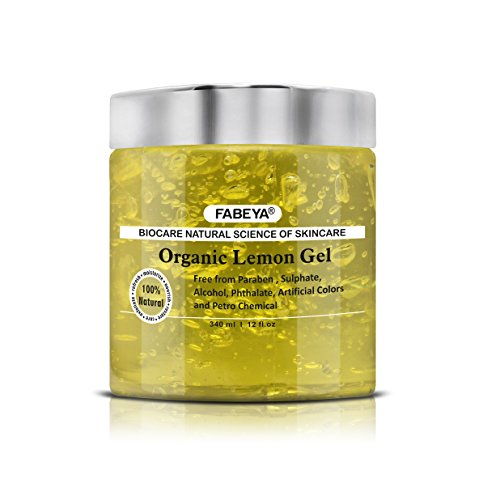 FABEYA BioCare Natural Organic Lemon Gel - No Parabens and Sulphates - 340 ml Pack of 1