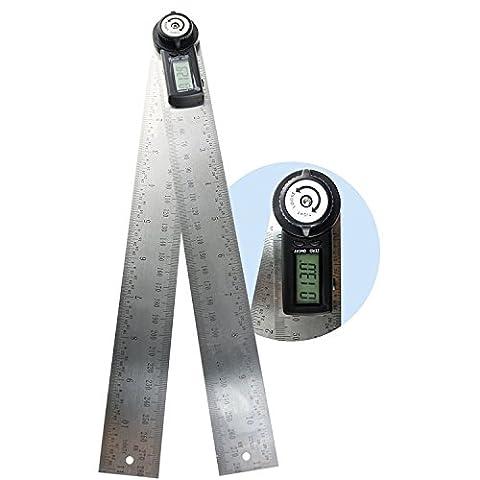 Digital-Winkelmesser, 360Grad, 600mm, 60cm, metrische und imperiale Skala, für Automobil, Werkzeug, Konstruktionen, Wasserski, Holz und Verarbeitung