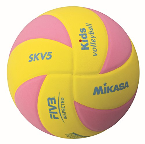 Mikasa Ball SKV5-YP Kids Volleyball, Gelb/Pink, 5, 1122