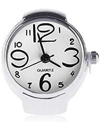 Mengonee Unisex mini 5 colores anillo de pareja Relojes Hombres Mujeres  mano reloj elástico de la 2a30f0ced5d7