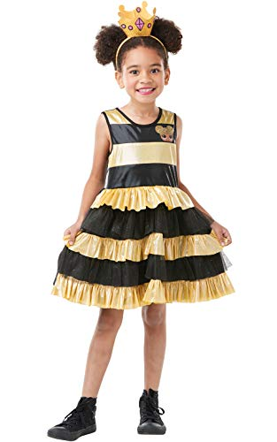 Rubie's Official LOL Surprise! Queen Bee Deluxe Kostüm für Kinder, Größe L, 7-8 Jahre, 128 cm (Queen Kleid Bee)
