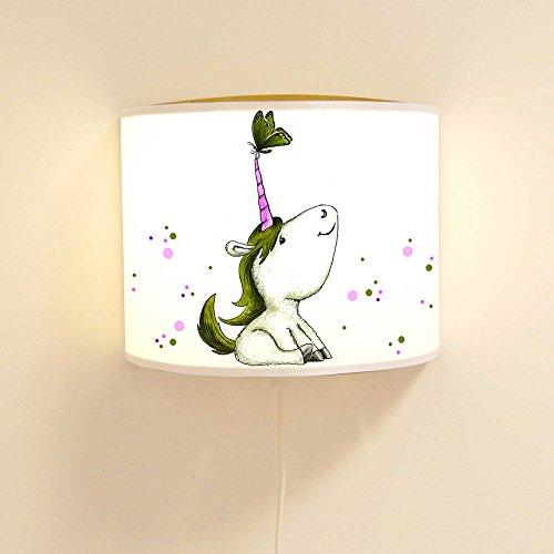 ilka-parey-wandtattoo-welt-Leseschlummerlampe-Leselampe-Schlummerlampe-Wandlampe-Kinderlampe-Lampe-Einhorn-mit-Schmetterling-und-Punkten-Ls34