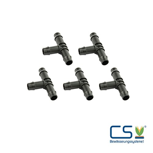 5-er Set T-Verbinder für CS Perlschlauch 1/2 Zoll
