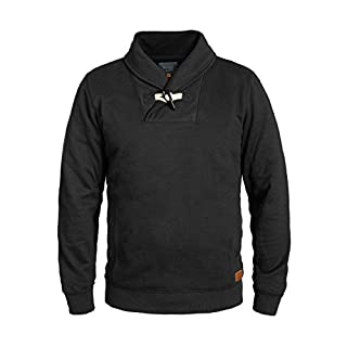 Blend Aleko Herren Sweatshirt Pullover Pulli Mit Schalkragen, Größe:L, Farbe:Black (70155)