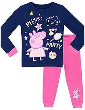 Peppa Pig - Pijama para niñas - Peppa's Fiesta - Ajuste Ceñido