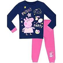Peppa Pig - Pijama para niñas - La Fiesta de Peppa - Ajuste Ceñido