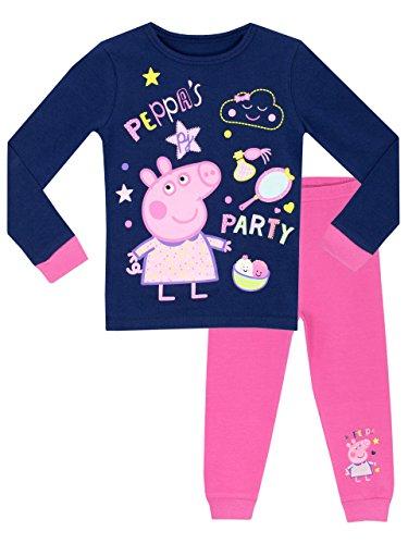 Peppa Pig - Pijama para niñas - Peppa's Fiesta - Ajuste Ceñido - 3 - 4 Años