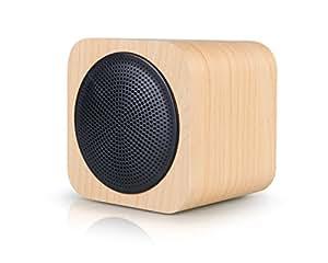 AVWOO legno bluetooth oratore con la radio fm, supporto mp3 aux portatile wireless oratore costruito nel 1200mah rechargable batteria adatta per telefono, pc, tablet.