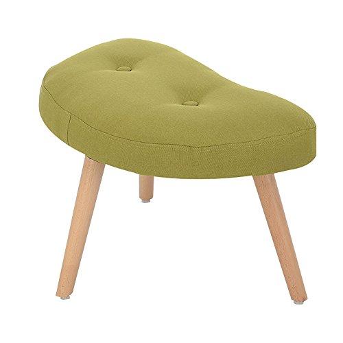 LJHA Tabouret pliable Tabouret en bois solide/Foyer de ménage changeant des chaussures Tabouret/tabouret de petit salon de salon chaise patchwork (Couleur : Vert, taille : 60 cm)