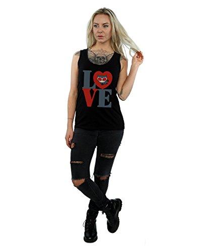 DC Comic Femme Chibi Catwoman Love Tank Top Noir