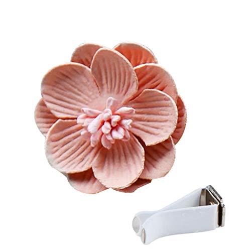 bismarckber Panno Camellia Auto Deodorante Profumo Aroma Clip Diffusore Auto Decorazione, Rosa, Taglia U