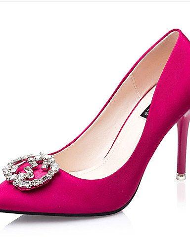 WSS 2016 Chaussures Femme-Décontracté-Noir / Vert / Rouge / Gris / Corail-Gros Talon-Talons-Talons-Laine synthétique green-us5 / eu35 / uk3 / cn34