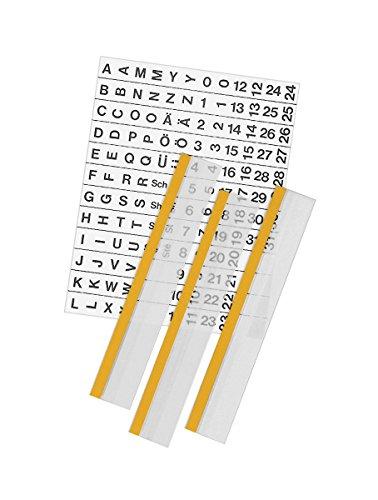 Veloflex 2016000 Velotab Registertaben, selbstklebend, 20 x 1 cm, 5-er Pack, glasklar