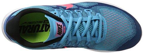 Nike Free Run 2017, Scarpe Running Uomo Blu (Chlorine Blue/hot Punch-industrial Blue-)
