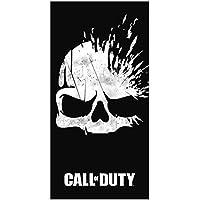 Call Of Duty 'roto toalla con diseño de calavera, algodón, negro, 70x 0,5x 140cm