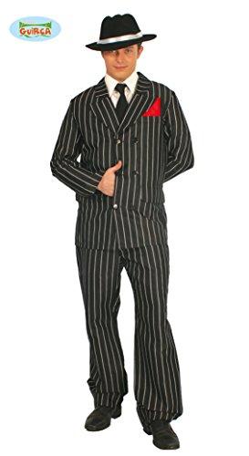 Guirca Gangster Kostüm für Erwachsene, Weiß, Schwarz, Einheitsgröße 48/52, ()