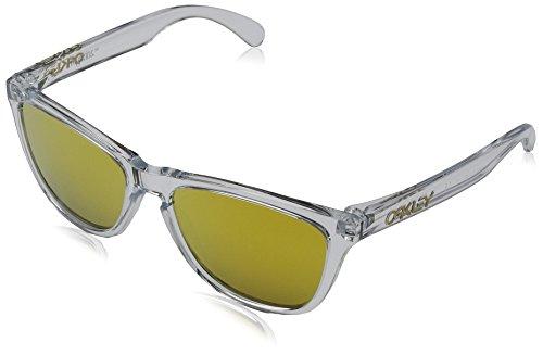 Oakley Herren Frogskins 9013A4 55 Sonnenbrille, Weiß (Polished Clear),