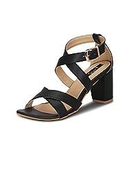 Kielz Womens Black Synthetic Shoes (RS-265) - 36 EU