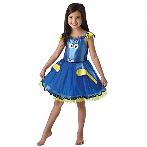 Krause & Sohn Kostüm Dory Deluxe Kleid blau für Kinder Nemo Fasching Lizenzkostüm (S (3-4 Jahre))