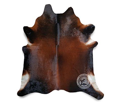 Teppich aus Kuhfell, Farbe: Mahogany, Braun, Größe circa 190 x 180 cm, Premium - Qualität von Pieles del Sol aus Spanien