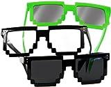 3 Stück,Pixel, Style Brillen