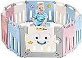 GOPLUS Box per Bambini Pieghevole Barriera di Sicurezza Pieghevole con Porta Parco Giochi Sicurezza con 12 Pannelli