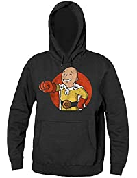 Superhero Smiling Men's Hooded Sweatshirt