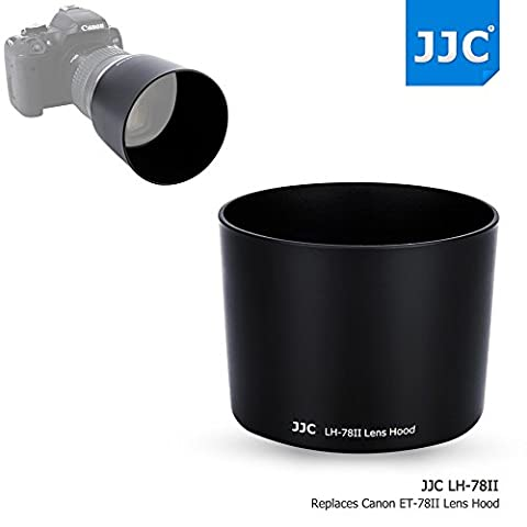 JJC LH-78II Lens Hood Shade For CANON EF 135mm f/2L USM EF 180mm f/3.5L Macro USM Lens Replaces ET-78II