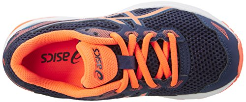 Asics Gt-1000 5 Gs, Scarpe da Corsa Unisex – Bambini, Blau Multicolore (Indigo Blue / Hot Orange / Thunder Blue)