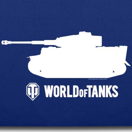 Spreadshirt World Of Tanks Tiger Panzer Silhouette Weiß Stoffbeutel Royalblau