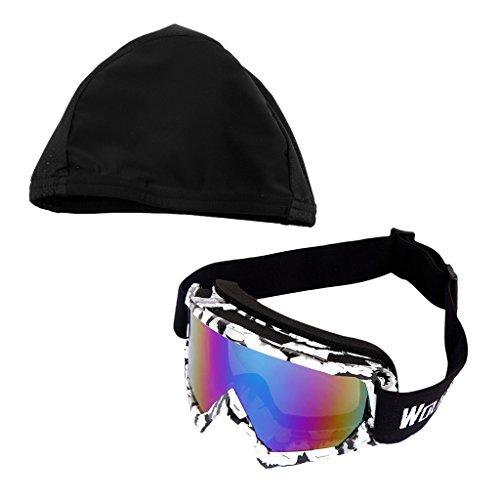 Sharplace Snowmobile Snowboard Skate Skibrillen Anti-Nebel Brillen mit Schnell trocknende Kappe