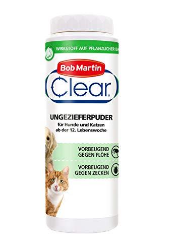 Bob Martin G2129 Clear Floh Puder für Hunde Plus Katzen