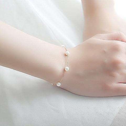 HOOM-Personnalité simple dames dames bracelet Bijoux de perle,Golden