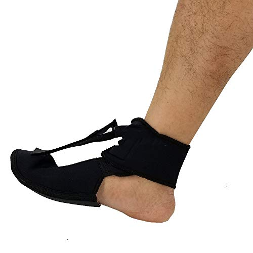 DYHQQ Plantar Fasciitis Night Drop Fußstütze - Orthetische Dehnung Passend für rechten und linken Fuß, verstellbare Ristverletzung Unterstützung Frauen und Männer,S -