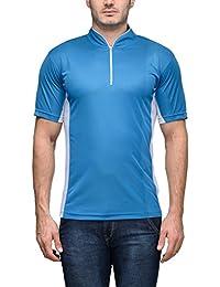 Scott Men's Jersey Round Neck Sports Dryfit T-shirt - Turquoise Blue