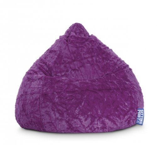SITTING POINT only by MAGMA Sitzsack Fluffy XL ca. 220 Liter lila