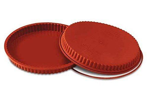 Silikomart Silikon Flan/Tart Pan, 260mm, Terracotta Flan Mold Pan