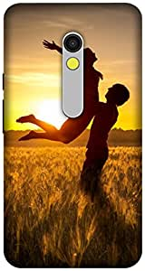 The Racoon Lean printed designer hard back mobile phone case cover for Motorola Moto X Play. (Couple)