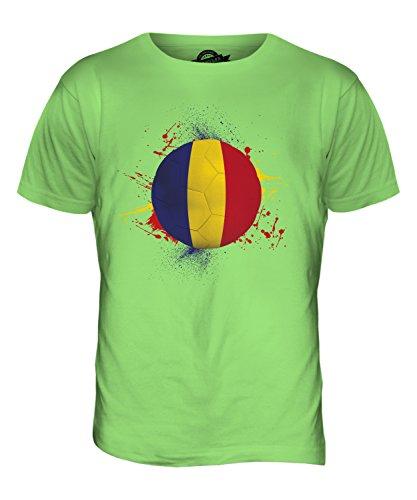 CandyMix Rumänien Fußball Herren T Shirt Limettengrün