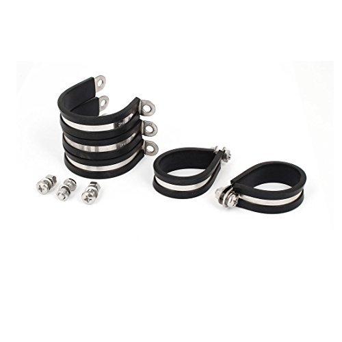 Deal Mux 42 mm Acier Inoxydable 304 caoutchouc EPDM P Colliers Tuyau Tube Collier de serrage 5pcs