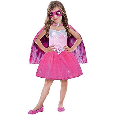 Amscan 999 337 - Niño Traje de Barbie princesa de energía, cerca de 5 - 7 años, tamaño 116, rosa