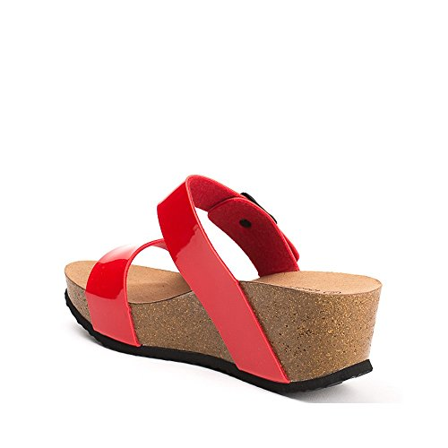Ideal Shoes ,  Infradito donna Rosso