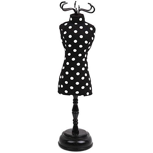 Prym Kleid Form Geformte Polka Dot Pin Kissen, Polyester, Schwarz/Weiß -