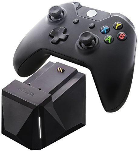 Erweiterbare Einfach-Ladestation für Xbox One-Controller, schwarz, mit Netzteil und Deutschem Stecker (Charge Block Solo 86130) (Nykos Power Station)